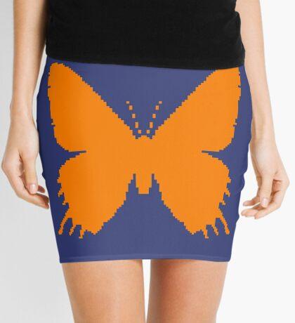 8-bit Simplex pixel Orange butterfly Mini Skirt