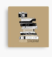 #BOOKSTAGRAM (Brown!) Canvas Print