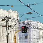 Melbourne Street Scene by Geoff Cook