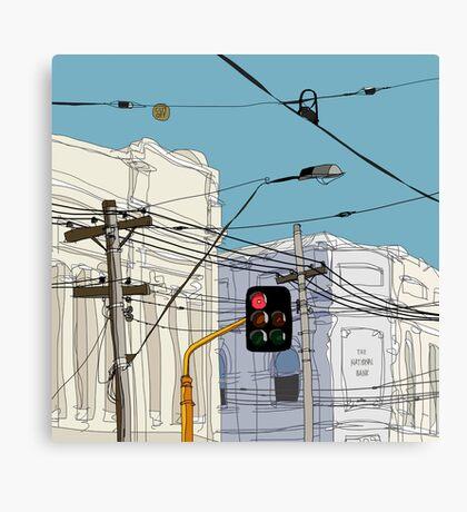 Melbourne Street Scene Canvas Print