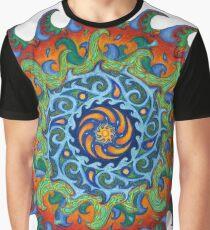 Tsunami Mandala Graphic T-Shirt
