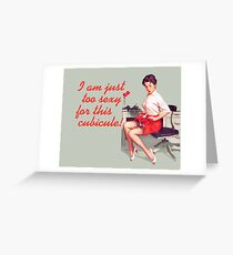 Sexy Office Pin-Up Mouse Pad Greeting Card