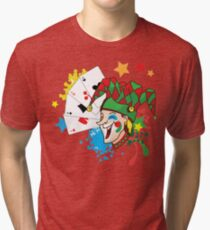 Smiling joker with cards Tri-blend T-Shirt