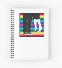 let's meet at the rainbow (two people awesome shoes) Spiral Notebook