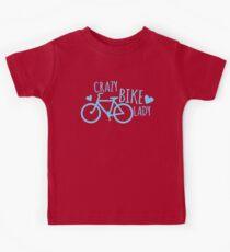 Crazy Bike Lady Kids Tee