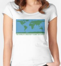 The World's Greatest Planet On Earth - ONE:Print Women's Fitted Scoop T-Shirt