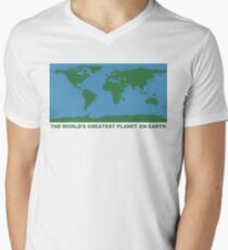 The World's Greatest Planet On Earth - ONE:Print Men's V-Neck T-Shirt
