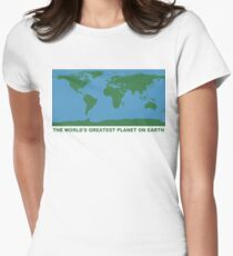 The World's Greatest Planet On Earth - ONE:Print Women's Fitted T-Shirt