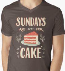 Sundays Are For Cake V-Neck T-Shirt