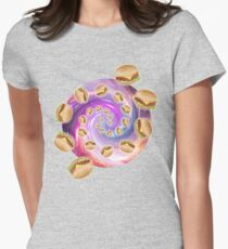 Spiral Galaxy of Burgers Womens Fitted T-Shirt