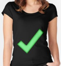 Check Women's Fitted Scoop T-Shirt