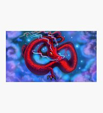 Red Dragon on a Starry Night Sky Photographic Print