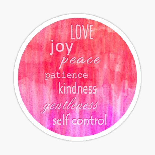 Inspirational Text on Pink Watercolor Abstract Sticker