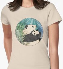 Panda Love Womens Fitted T-Shirt