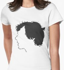 """Sherlock quote typography """"don't talk out loud"""" Womens Fitted T-Shirt"""
