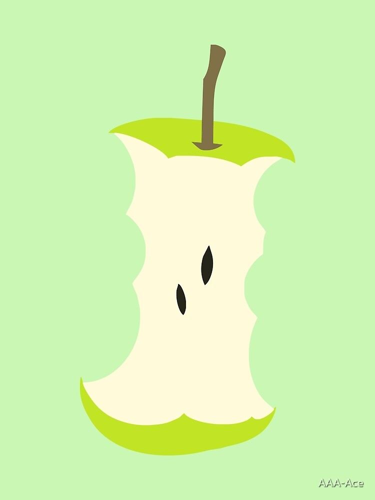 stub of green apple by AAA-Ace
