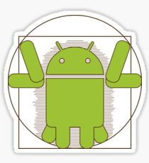 Vitruvian Android Sticker