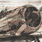 Old airplane by LoraSi