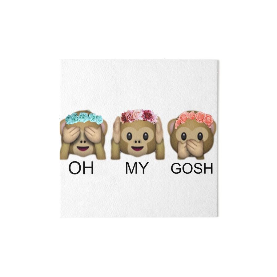 Oh my gosh flower crown tumblr emoji monkey art boards by oh my gosh flower crown tumblr emoji monkey by returntoryland izmirmasajfo Image collections