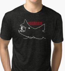 Jaws - Quints chalk drawing Tri-blend T-Shirt