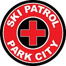 PARK CITY UTAH Skiing Ski Patrol Mountain Art by MyHandmadeSigns