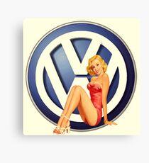 Retro VW Chick Canvas Print