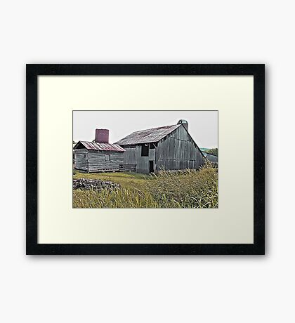 """""""Nostalgic Old Barn, the Back Side""""... prints and products Framed Print"""