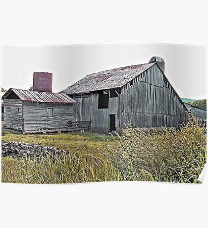 """""""Nostalgic Old Barn, the Back Side""""... prints and products Poster"""