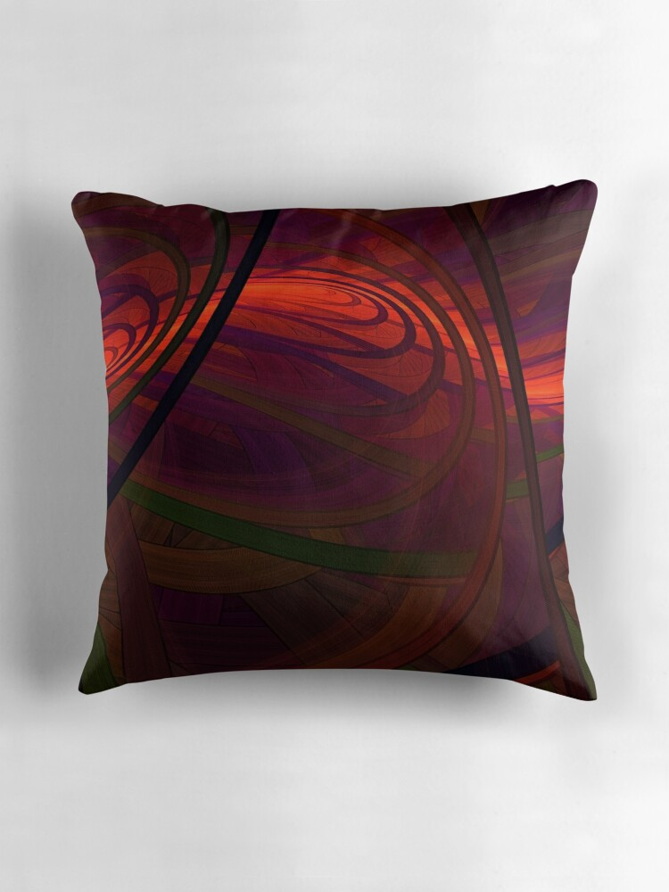 Quot Abby Stract Quot Throw Pillows By Lyle Hatch Redbubble