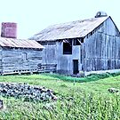 """""""Nostalgic Old Barn, the Back Side  (Pastelized)""""... prints and products by © Bob Hall"""