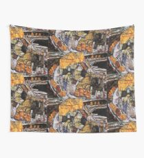 Egon Schiele Abstract Town Wall Tapestry