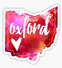 Oxford - Watercolor Heart Ohio  Sticker