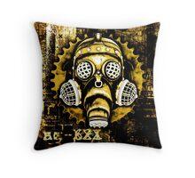 Steampunk / Cyberpunk Gas Mask Throw Pillow