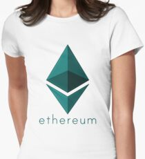 Ethereum emerald  Womens Fitted T-Shirt