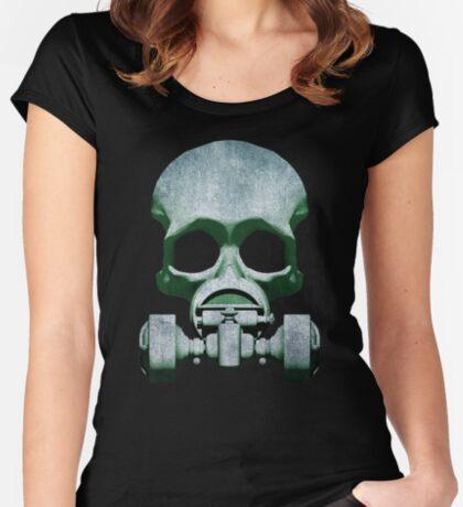 Steampunk / Cyberpunk Skull Gas Mask Women's Fitted Scoop T-Shirt