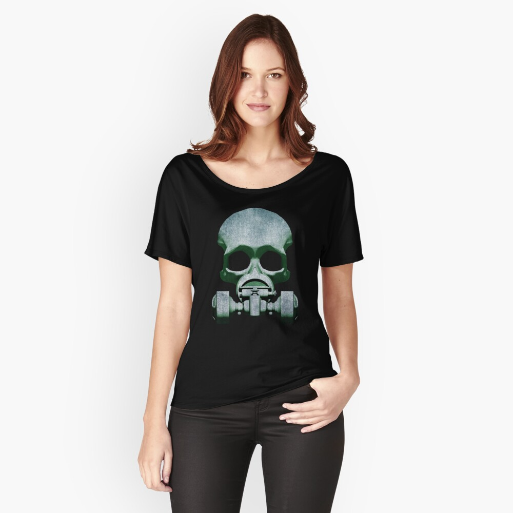 Steampunk / Cyberpunk Skull Gas Mask Relaxed Fit T-Shirt