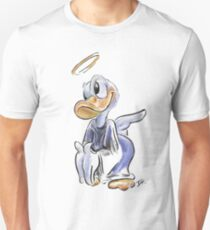 Charcoal and Oil - Angel Donald Duck Unisex T-Shirt