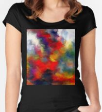 From The Painting Easel #1 Redo Women's Fitted Scoop T-Shirt