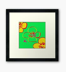 Contaminated Flowers Collection - Lime & Yellow Framed Print