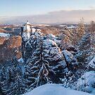 Snowy Rocks of Saxon Switzerland by JennyRainbow