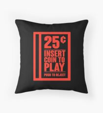 Insert Coin Throw Pillow