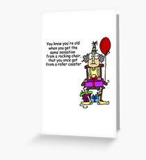 Funny Over The Hill Roller Coaster Birthday Greeting Card