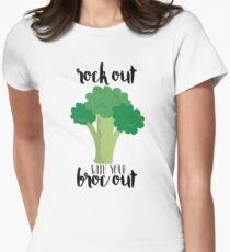Rock con su Broc fuera - Broccoli Camiseta entallada