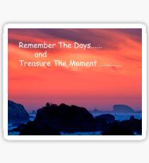 Treasure The Moments ..... Sticker