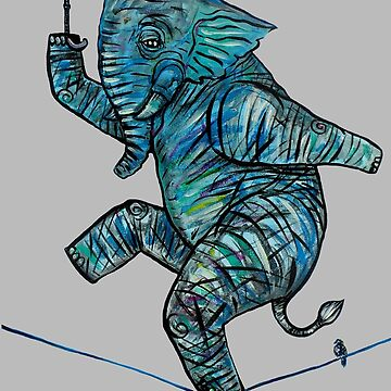 Elephant on Tightrope.   by brianbarnardart
