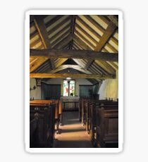 Church of St Olaf, Wasdale head. Interior. Sticker