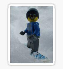 Snowboarding Guy Sticker