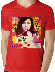 THE LAST LIVING ROSE P J HARVEY Mens V-Neck T-Shirt
