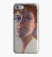 Two Faces - Portrait Of A Woman - Outsider Art iPhone Case/Skin
