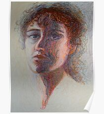 Two Faces - Portrait Of A Woman - Outsider Art Poster